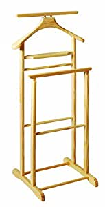 Butler's Solid Wood Clothes Stand / Valet Rack / Coat Hanging Rail (Natural Colour)
