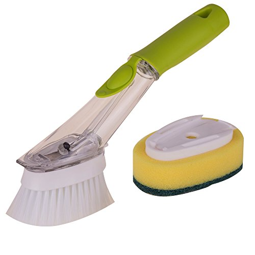 Kitchen Plastic Decontamination Cleaning Brush Dishwashing Brush with A Sponge Cleaning Sheet A Brush (Hair Brush Sheet compare prices)