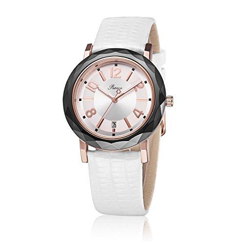 piance-Mesdames-montres--quartz-Fashion-Montre-bracelet-en-cuir-blanc-avec-affichage-analogique-une-bote-de-luxe