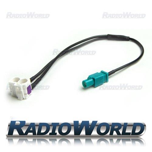 VW RNS Antennenweiche Fakra RCD 510 310 315 Antennen Stecker SEAT SKODA Columbus
