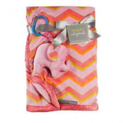 Blankets and Beyond Pink Elephant Blanket - 1