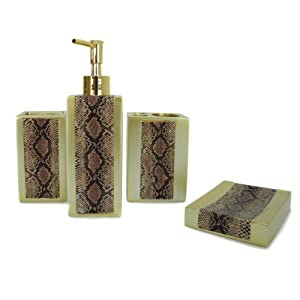 piece bathroom accessories set luxury bath accessory bath set soap