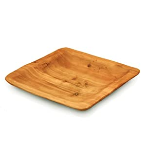 enrico 2170 root wood square plate dinner