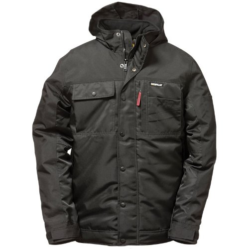 Caterpillar 1313038 Insulate Twill Parka Water/ Wind Resistant/ Mens Jackets (Large) (Black)