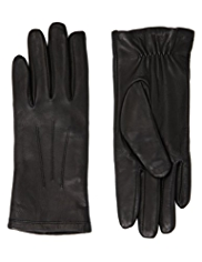 M&S Collection Leather Ruched Gloves