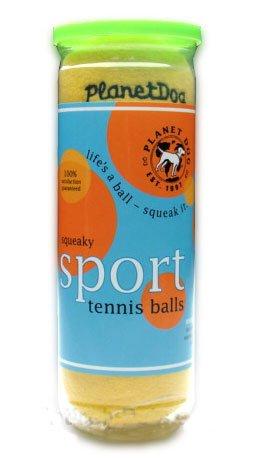 Planet Dog Squeaky Plush Tennis Ball  3-Pack