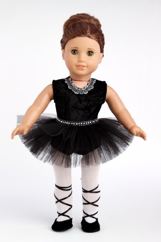 Black Ballerina Dress with Tights and Shoes