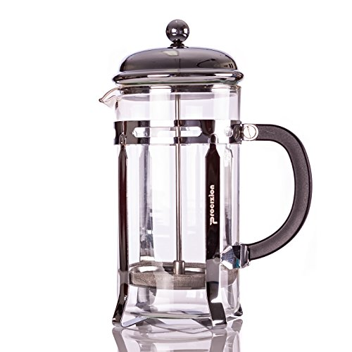Procizion French Press Coffee, Espresso and Tea Maker 20 Oz Pot, Chrome, Includes 6 Filters (Cafeteria Coffee Maker compare prices)