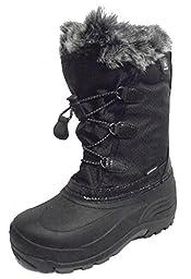 Kamik Powdery Snow Boot (Toddler/Little Kid/Big Kid), Black, 8 M US Toddler