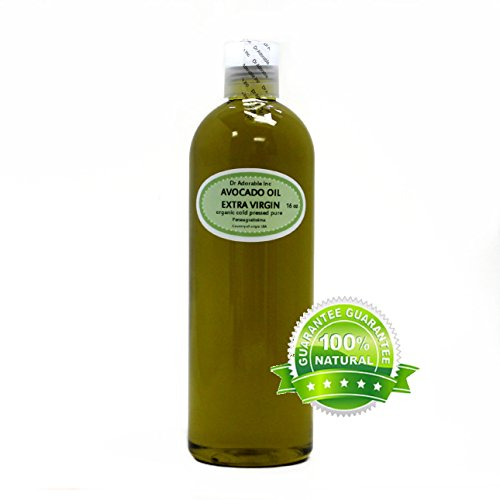Organic Pure Carrier Oils Cold Pressed 16 Oz/1 Pint (Avocado Exta Virgin Oil)