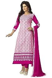 Venisa Pure Cambric Cotton White color salwar suit dress material