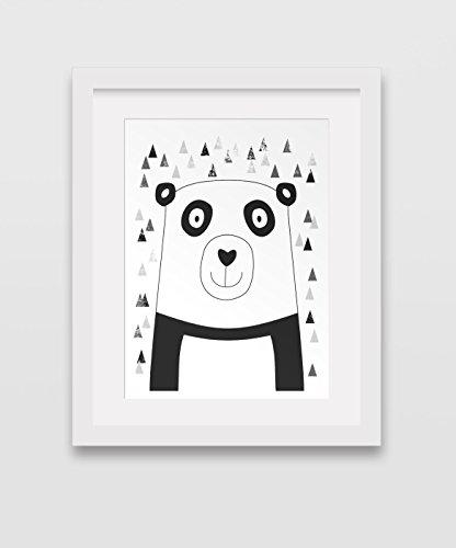 Kids-Panda-Art-Childrens-Room-Art-Panda-Bear-Wall-Print-8-x-10-inches