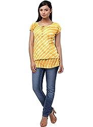 Miraaya Women's Tunic (IN2061F_3572_Yellow_Large)