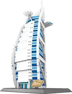 The BURJ AL ARAB hotel of Dubai BUILDING BLOCKS 1307 pcs HUGE GIFT box !! LEGO parts compatible ! World's great architecture series
