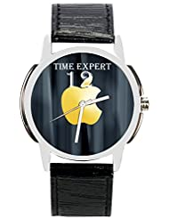 Time Expert Analogue Black Dial Men's Watch - TE100205