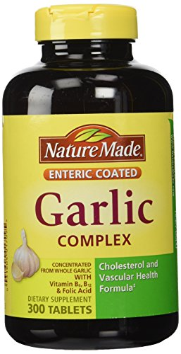 Nature Made Garlic Complex with Vitamin B6, Vitamin B12 and Folic Acid - 300 Enteric Tablets (Nature Made 300 compare prices)