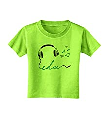 buy Tooloud Edm Cord Blue Toddler T-Shirt - Lime Green - 4T