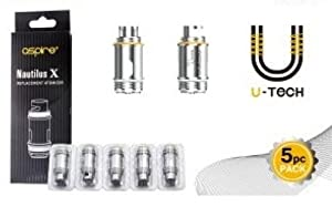 Authentic Aspire Nautilus X coil 1.5 0hm (5PCS/Pack) & Free juicee Bottle