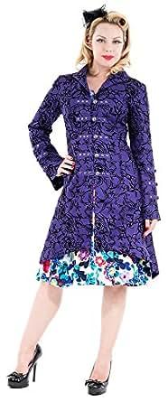 H&R London Kurzmantel TATTOO COAT purple XS