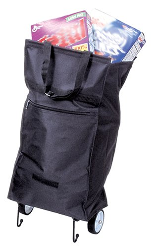 Duro-Med Rolling Shopping Bag, Folding, Black