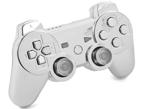 CHROME PS3 Modded Controller (Rapid Fire) COD Ghosts, Black Ops 2 QUICKSCOPE, JITTER, DROP SHOT, AUTO AIM: Playstation 3