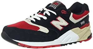 New Balance - Mens 999 Classic Shoes, UK: 12.5 UK - Width D, Black with Red & Cream