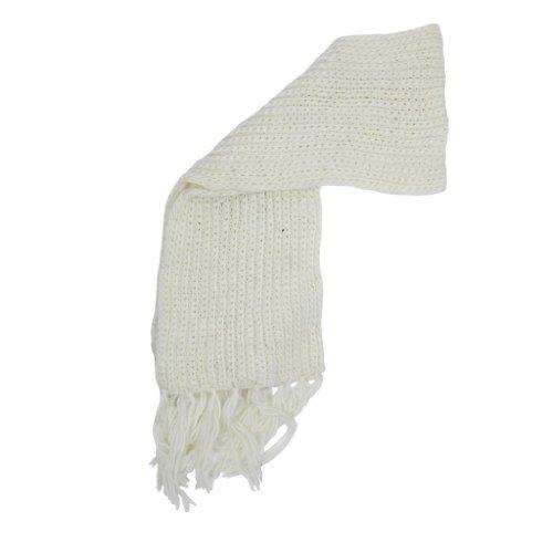 Donna Inverno Caldo Lavorato A Maglia Grossa sciarpa boho stile Cream Taglia unica
