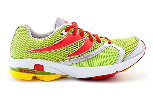 Newton 005 Men'S Distance Cushion Racer Lime+Red (6)