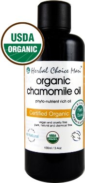 Herbal Choice Mari Organic Chamomile Oil 100ml/ 3.4oz Bottle