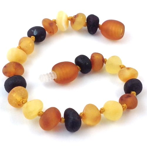 "Hazelaid (TM) 5.5"" Baltic Amber Multicolored Semi-Polish Bracelet"