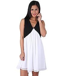 Ashtag Black & White Georgette Dress