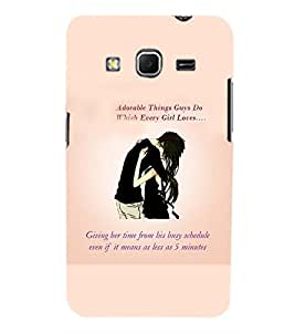 Printvisa Love Quote By A Couple In Black Back Case Cover for Samsung Galaxy Core Prime G360