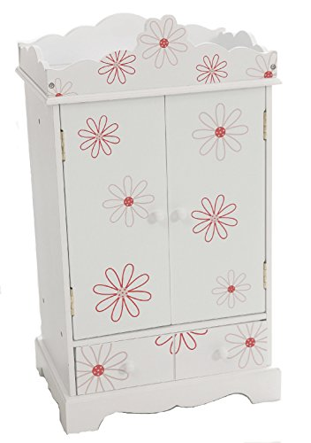 "Large 18 Inch Doll Armoire | Storage Furniture Fits 18"" American Girl Dolls 