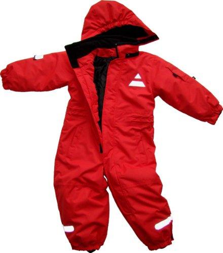 Maylynn Outdoor - Tuta da sci intera in Softshell - bebè - rosso - 80-86 cm