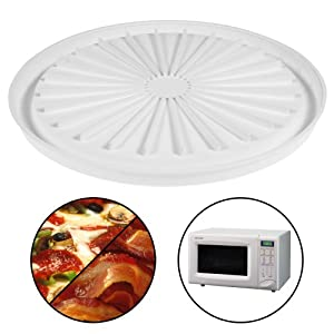 Microwave Pizza Plate Cook Bacon Sausage Meat Dishwasher Safe Round Pan Tray by Great American Opportunities
