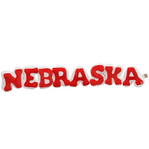 NCAA Nebraska Cornhuskers Scarlet-White Plush