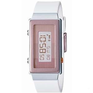Casio LA-2100-5ADR - Reloj de mujer con correa blanca
