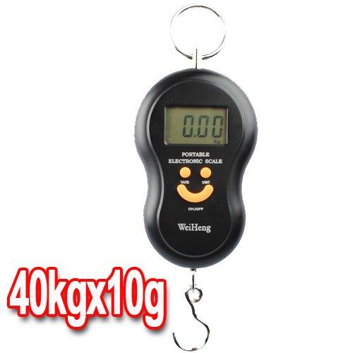 Noir 10g-40kg Digital Balance Peson Pèse Electronique Crochet Pêche Scale Hook Bagage