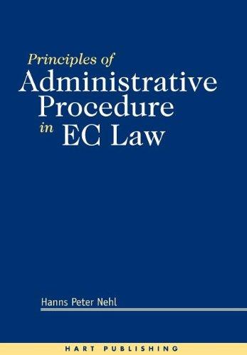 Principles of Administrative Procedure in EC Law
