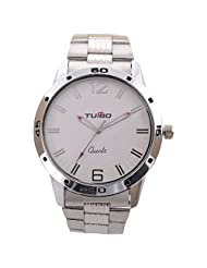 Turbo Youth Analogue White Dial Men's Watch - R114-001M