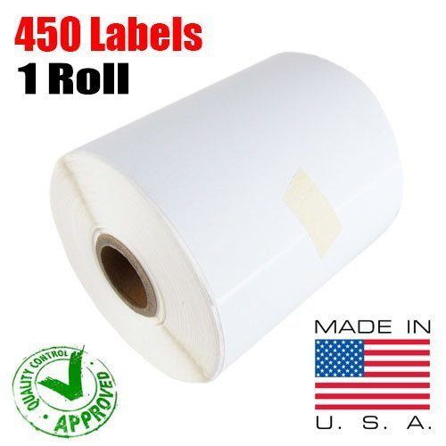 iMBAPrice - 1 Roll of 450 (USA) 4x6 Direct Thermal Labels for Zebra 2844 ZP-450 ZP-500 ZP-505 (1 inch core) (Thermal Shipping Labels compare prices)