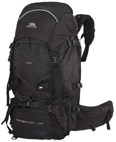 Trespass Expedition X 65L Rucksack - Black, One Size