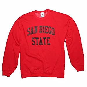 San Diego State Aztecs Sweatshirt - Crewneck Red by SportShack INC