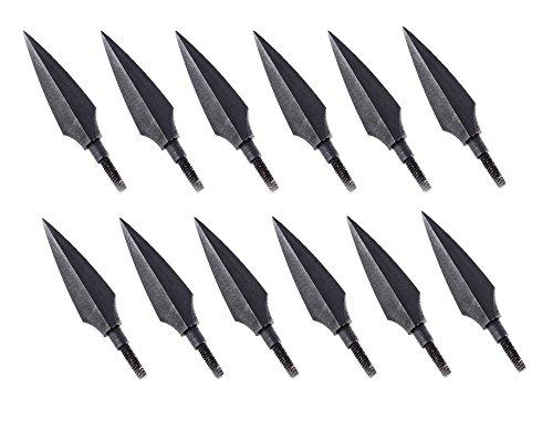 Huntingdoor-12pcs-Screw-In-Broadheads-150-Grain-Traditional-Hunting-Arrow-Head-For-DIY-Flying-Arrow-Archery