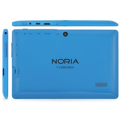 "NORIA JR. 8GB 7"" Tablet PC. Android JellyBean 4.1. Dual Cameras, HDMI, 3200 mAh Battery, Dual Core 1.2 GHz CPU - Light Blue"