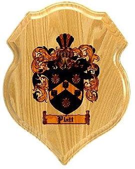 Platt Coat of Arms Plaque / Family Crest Plaque