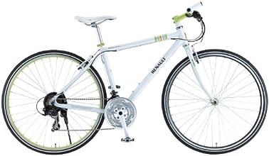 RENAULT(ルノー) 700C シマノ21段変速 軽量アルミ クロスバイク 【バーエンド付き自転車】 ホワイト RENAULT  AL-CRB7021 11855-0099