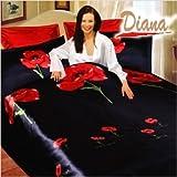 Diana 6 Piece Queen Duvet Cover Bedding Set in Weasel Black
