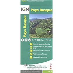 Pays Basque ign 1/75 :IGN.75023 (Ign Map)