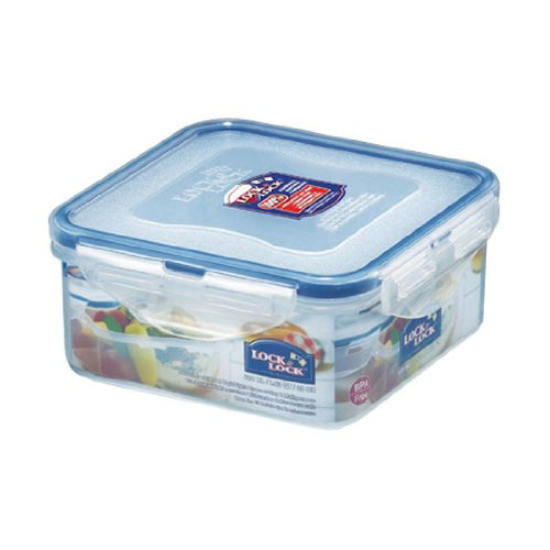 Lock&Lock 20-Fluid Ounce Square Food Container, 2-1/2-Cup